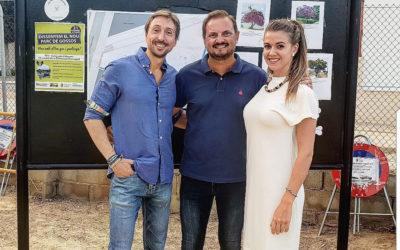 Jorge Llinás y Miriam Palacios asisten a la inauguración del proyecto del parque canino de Silla