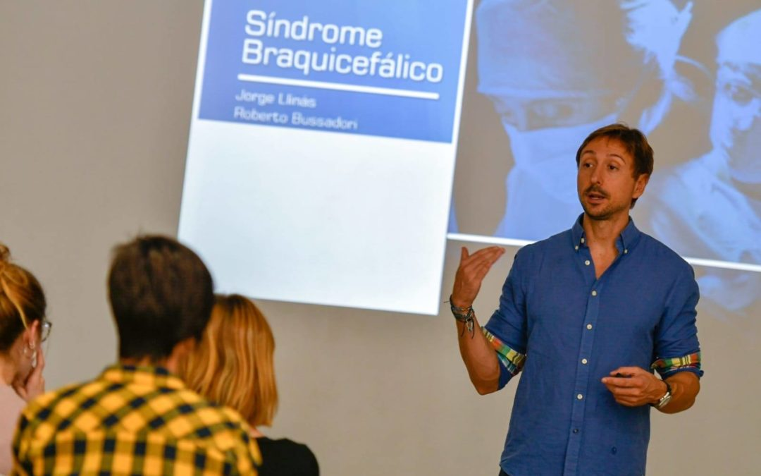 Jorge Llinás imparte una master class sobre el síndrome braquicefálico en el curso de auxiliares